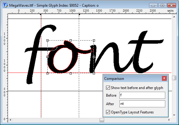 Comparison of font editors