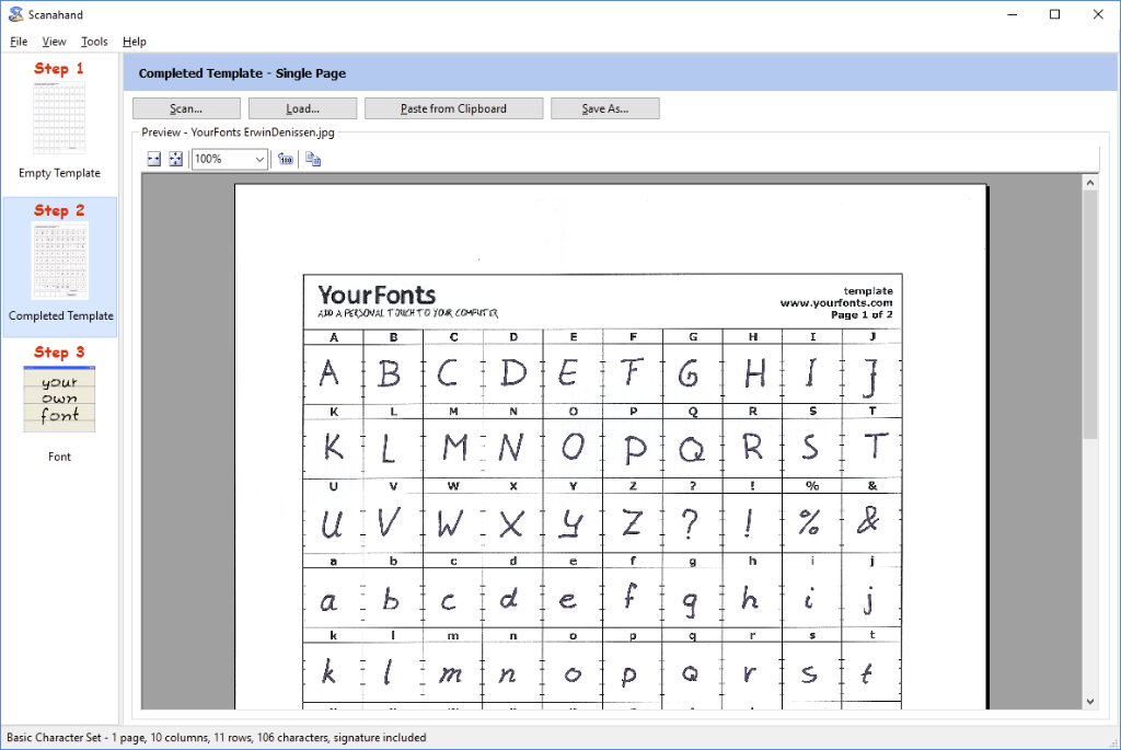 scanahand for windows the handwriting and signature font generator