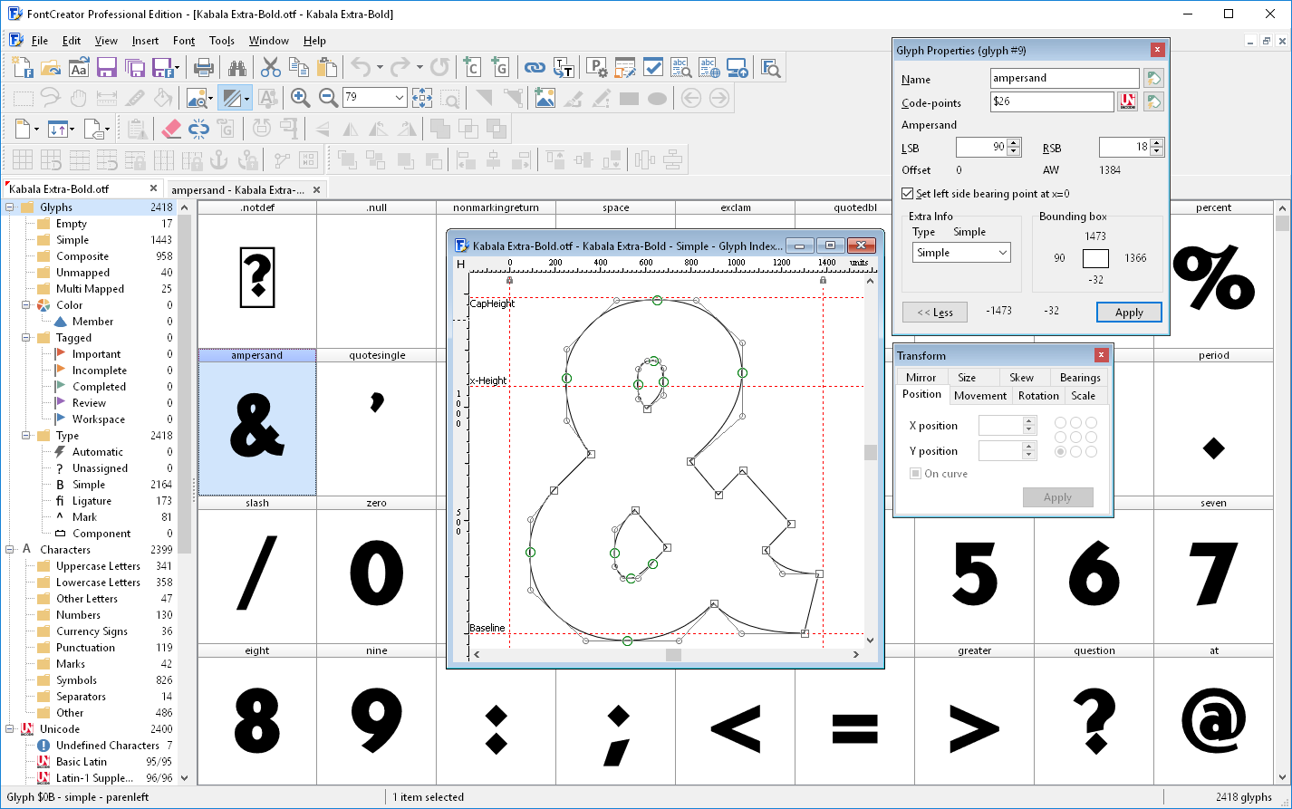 Fontcreator For Windows The Most Popular Font Editor